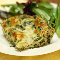 Spinach and Artichoke Dip Lasagna from It's Not Easy Eating Green.