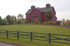 Red Barn style house with black trims