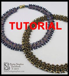 Beading Tutorial for Miriam Necklace by BettyStephanBeadwork, $10.00