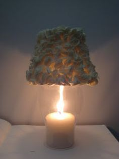 Make a lampshade for hurricane centerpieces