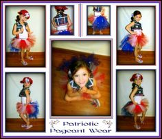 Glitz Patriotic Pageant Wear / 4th of July OOC by LilCoutureCutie, $65.00