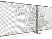 Lace fence by Droog balconies, chainlink fenc, chains, fences, fenc design, garden houses, fence design, dutch design, lace fenc
