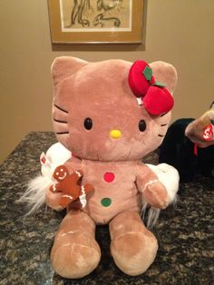 Rare Retired VHTF Build a Bear Workshop BABW Hello Kitty Gingerbread w/Cookie NR