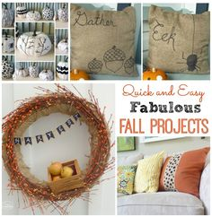Quick and Easy Fabulous Fall Projects at thehappyhousie.com
