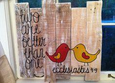 DIY pallet wall art (minus the bible verse)