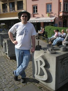I traveled to Germany in 2007 to lead some workshops for Stars and Stripes. I made a side trip to the Gutenberg Museum in Mainz.