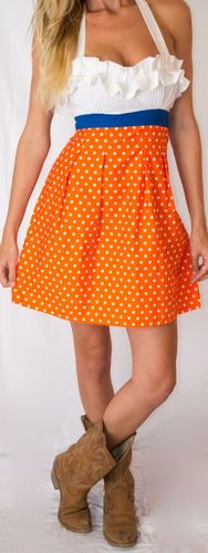 AMAZING custom made gameday dresses (come in any color/for lots of schools)...MISS SUNSHINE