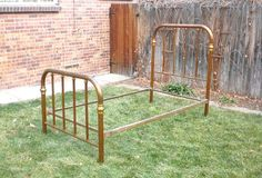 RESERVED for Mitchell Antique Brass Bed Twin 1800s Pick-up Only Denver on Etsy, $200.00