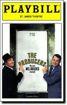 Playbill Cover for The Producers at St. James Theatre - Opening Night 2001