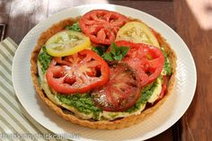 Fresh Tomato Tart with Pesto and Mozzarella...#TomatoLove~