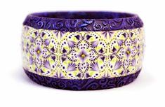bracelet, clays, bead perl, polym bead, beads, polym clay, green kaleidoscop, clay idea, polymer clay