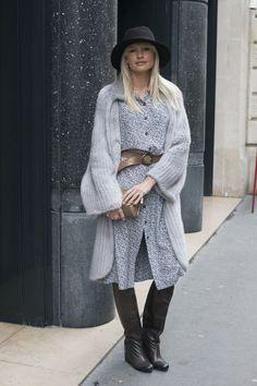Jewelry designer Yana Raskovalova shows off a wintery  boho look