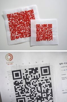 QR code cross stitch!