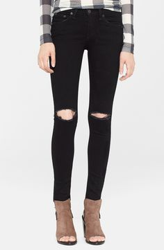 Ripped Jeans + Heeled Booties