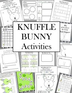 $ Knuffle Bunny by Mo Williems Common Core Aligned Math & Literacy Activities & More...14 Different Activities for the Knuffle Bunny books.