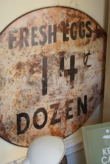 fresh eggs, farm signs, vintage tins, kitchen signs, antique signs