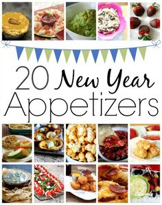 New Year Appetizers!  Whether you have a sweet tooth or looking for something healthy, you'll find what you're looking for!