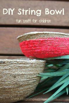 DIY string bowl - craft for children/teens