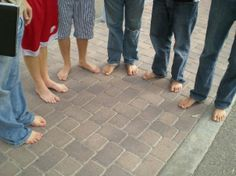 Members of the International Justice Mission at the inaugural One Day Without Shoes at Pepperdine University. #WithoutShoes