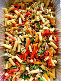 Roasted Veggie Pasta--the colors are so inviting. I could eat pasta salad every day of the year. It's such a great side dish too.