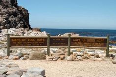 Cape of Good Hope-The most south-western point of the African continent, where the Atlantic and the Indian Ocean meet.