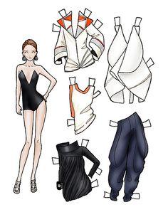 Fashion paper dolls Biddell SS10 Women by finalfashion, via Flickr