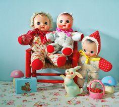 Vintage cloth squeak doll