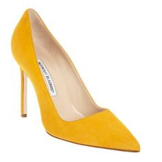 REVEL: Mustard Suede Pumps