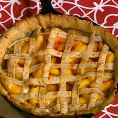 The Chew - Recipes - Carla Hall Cast Iron Peach Pie.  I've got just the cast iron skillet for this.