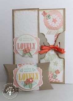 You're Lovely set, Tag Topper Punch.  Love for Stamping