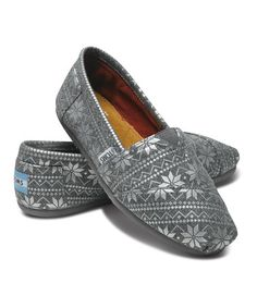 Take a look at this Silver Snowflake Classics - Women by TOMS on #zulily today!