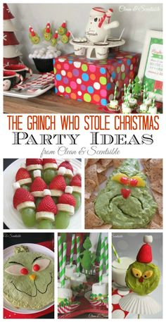 Lots of fun Grinch party ideas!  Great for a night of watching the Grinch too! @Brooke Munoz