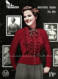 Free Knitting Pattern: Marilla, a 1950s cardigan with a twist - Subversive Lesbian Anarchic Femme!