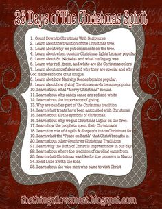25 Days of The Christmas Spirit