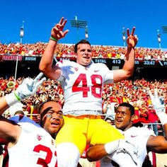 USC Trojans beat Stanford and broke their home game winning streak!!! Way to go Andre!!!! FIGHT ON!!!