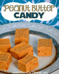 A delicious 3-ingredient Peanut Butter Candy Recipe peanut-butter lovers are sure to enjoy! | MomOnTimeout.com #candy #recipe