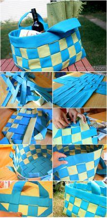DIY No-Sew Summer Basket Tutorial
