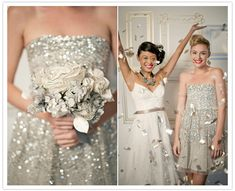 Why not add a little sparkle & shine? #gray #silver #bridesmaid #dress