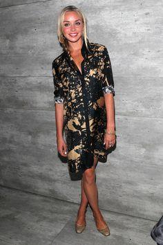 Noelle Reno rocking our Camo Dark shirt dress #AW14