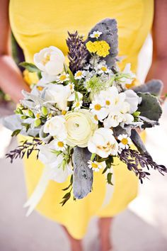 yellow flowers, wedding bouquets, dress, grey weddings, color pallets, bridesmaid, wedding colors, yellow bouquets, wedding colours