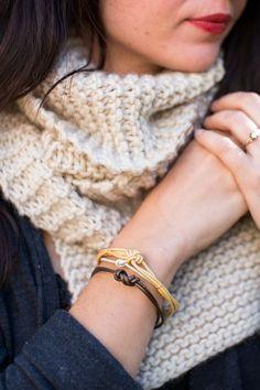 christmas crafts, holiday gift, christma gift, knot bracelet diy, diy knot, knot leather, diy accessori, jewelri, leather bracelets