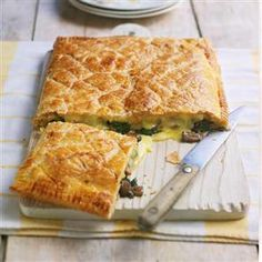Baked Brie and wild mushroom tart recipe. Use ready-rolled puff pastry ...