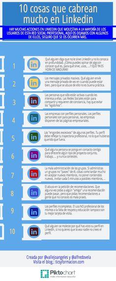 10 cosas que cabrean mucho en Linkedin #infografia