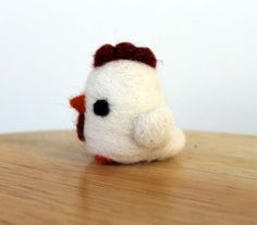 Hey, I found this really awesome Etsy listing at https://www.etsy.com/listing/207277431/needle-felted-white-chicken-hen-bird