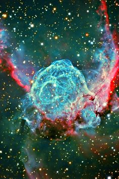 Thor's Helmet Nebula; distance: 15,000 light years, 30 light years across, central star is pre-supernova, constellation Canis Major