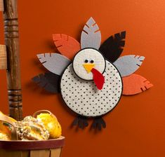 This is one of the coolest turkey crafts I've ever seen! The Embroidery Hoop Turkey will look great in any home.