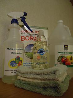 homemade products, cleanses, homemade disinfectant spray, team borax, spray bottl, white vinegar, bottles, borax cleaning, homemade lysol spray