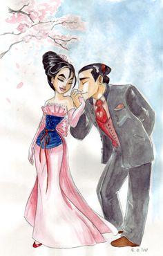 Designer fashion - Mulan with Shang
