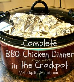 crockpot chicken dinner, chicken dinners, bbq crockpot chicken, bbq chicken crockpot, crock pot, bbq chicken breast crockpot, slow cooker camping, crockpot recipes, clean dinners