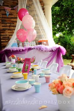 Razzle Dazzle Party Box: Theme Birthday Party: Princess Tea Party